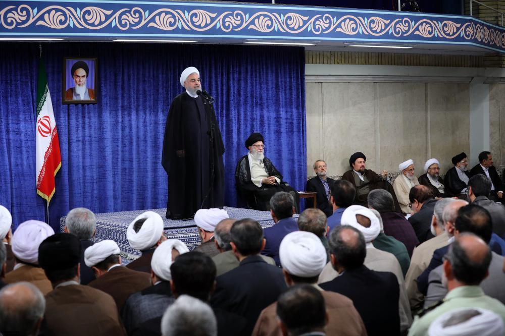 واکنش امام خامنه ای به سخنرانی روحانی در بیت رهبری