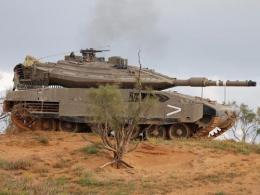 انهدام تانک مرکاوا توسط گروه های مقاومت فلسطین