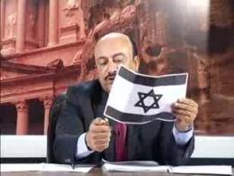 آتش زدن پرچم اسرائیل در برنامه زنده یک شبکه اردنی
