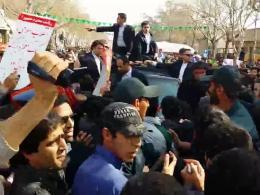 واکنش امت ولایی اصفهان در جریان سفر روحانی