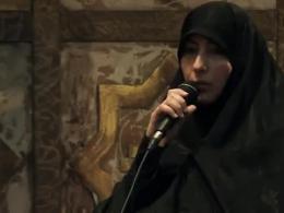 سخنرانی همسر شهید احمدی روشن در آغاز اکران مردمی جشنواره عمار