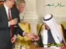 شراب خواری ملک عبدالله و جورج بوش