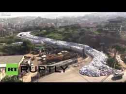 رودخانه زباله در بیروت!