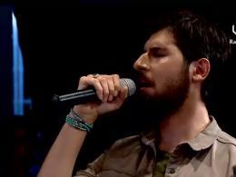 قرائت اذان توسط حامد زمانی در جشنواره موسیقی ضد استکباری طبس