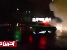 لحظه دلخراش پرتاب نارنجک به داخل خودروی پلیس در مشهد!