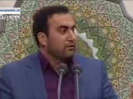 دشمن هرگز حریف هیبت رهبر نمیشود/مداحی آذری