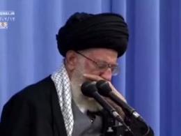 مرثیه خوانی درباره امام کاظم (ع) در محضر رهبر انقلاب