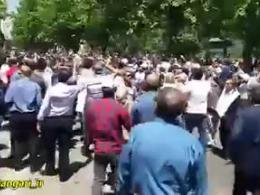 تجمع اعتراضی مال باختگان مؤسسه کاسپین مقابل بانک مرکزی
