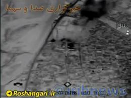 فوری...!! دومین فیلم از لحظه اصابت موشک های سپاه به هدف
