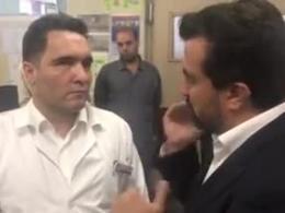 اولین فیلم از روحانی ای که امروز در مترو شهر ری زخمی شد