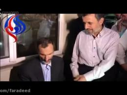 شیر موز دادن احمدی نژاد برای بقایی