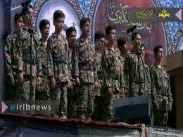 اجرای سرود معروف «ارغوان» در مراسم تشییع شهید حججی