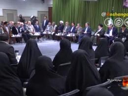 شعرخوانی آقای حسین کریمی مراغهای در محضر رهبری