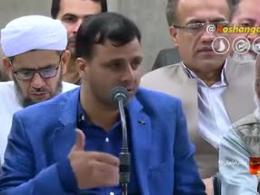 شعرخوانی آقای علی اکبر شاه از هندوستان در محضر رهبری
