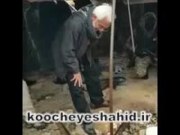 امین شریعتی بر سر گور صدام! + فیلم
