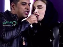 تک خوانی یک زن در کنسرت حمید عسگری...