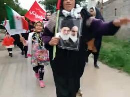 22بهمن | شعار یک روستایی فهیم در جشن انقلاب