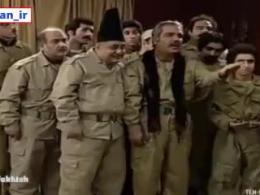 طنز  تصاویری از ربع پهلوی هنگام سان دیدن از ارتش خیالی خودش !!