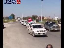فیلم/ ورود بسیج مردمی عراق از مرز مهران برای کمک به سیل زدگان