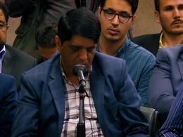 شعرخوانی آقای حیدر منصوری در محضر رهبری