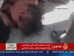 فیلم دستگیری و مرگ قذافی