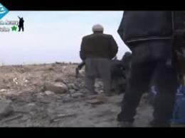 لحظه فرود خمپاره بر سر تروریستها در سوریه