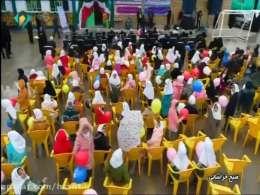 مراسم افتتاحیه دبستان اشرف السادات وفا(حسین نوریفرد) - روستای چِلقی - جاده سرخس