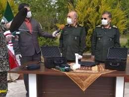 تست عملی دستگاه تست کرونا جدید سپاه که در 5 ثانیه کرونا را تشخیص می دهد
