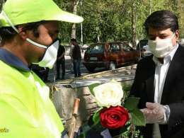 دلجویی شهردار منطقه یک تهران از پاکبان پارک نیاوران