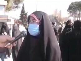 مصاحبه با مردم حاضر در راهپیمایی حجاب فاطمی