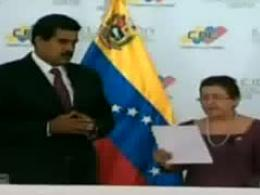 اعطاي حکم رييس جمهور ونزوئلا