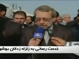 رئیس مجلس در مناطق زلزله زده بوشهر