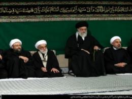 مهدی سلحشور در حضور رهبر انقلاب-شب هشتم محرم-92