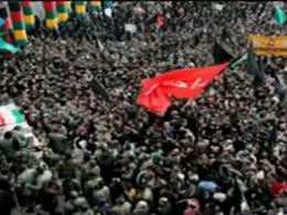 تشییع پیکر شهدای گمنام در دی ماه ۹۲