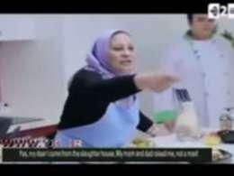 حمله آشپز به خانم مجری