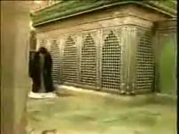 مقام معظم رهبری (مدظله العالی) در حال زیارت حرم حضرت معصومه (س) در قم