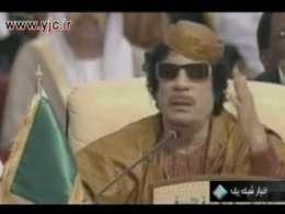 حرکات عجيب و غريب ديکتاتور لیبی