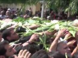 مراسم تشییع و تدفین شهدای گمنام دانشکده صدا و سیما
