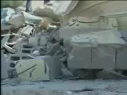 تخریب مسجد الصحوه به دست اشغالگران