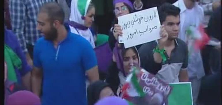 شعارهای  روحانی برای خوزستان و خوشحالی مردم(گریه برای مردم خوزستان)