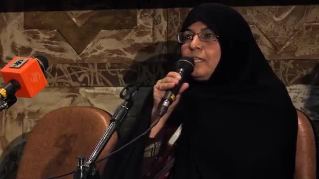 سخنرانی مادر شهید احمدی روشن در آغاز اکران جشنواره عمار