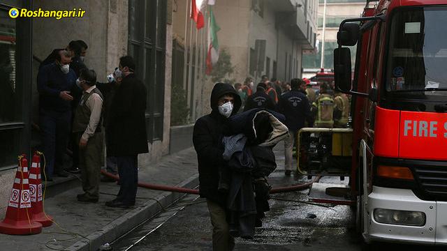 سخنان ملکی سخنگوی آتش نشانی در مورد آتش سوزی وزارت نیرو