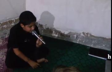 چه صدایی داره این پسر بچه، چه مداحی میکنه