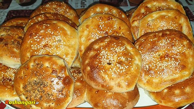 تهیه نان ترکی