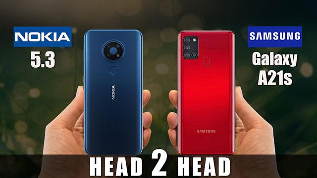 مقایسه Nokia 5.3 و Galaxy A21s