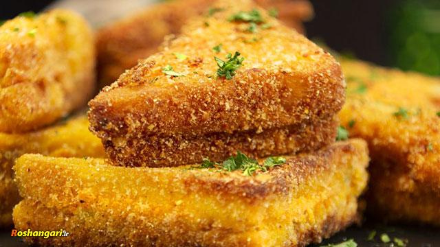 طرز تهیه ساندویچ مثلث  سوخاری