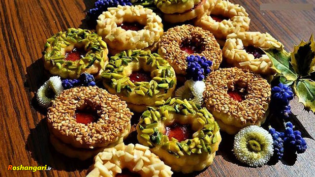 طرز تهیه شیرینی آلمانی (مشهدی/مربایی)