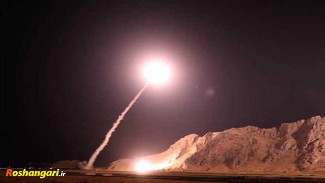 فیلم حمله موشکی سپاه به مواضع تروریستها
