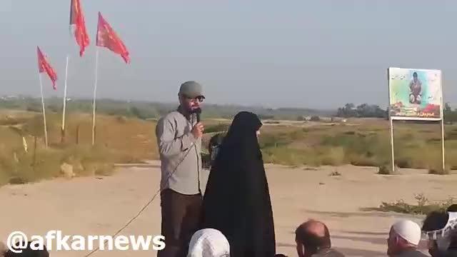 سخرانی دردناک مادر شهید در منطقه فتح المبین