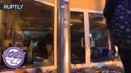 غارت فروشگاه در آلمان به بهانه تظاهرات